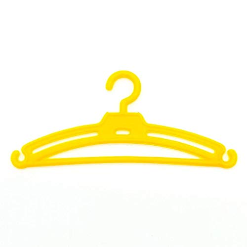 Folk Artesanía Lote 12 Perchas para Nancy Famosa en Color Amarillo. Válido para Sintra, Noa, Barbie
