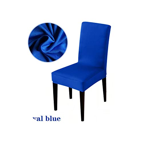 Pure Color Stretch Chair Cover seat Covers Slipcovers Hotel Banquet Armchair Elastic Christmas Office Chair,Royal Blue,Universal Size