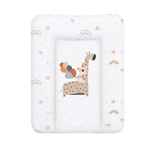 Ceba Baby Fasciatoio Materassino Fasciatoio 70x50 cm, 70x75 cm, 70x85 cm Cuscino Fasciatoio Lavabile per bambine e bambini - giraffa 50 x 70