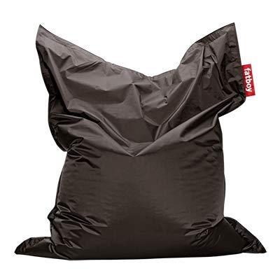 Fatboy® Original Taupe Nylon-Sitzsack| Klassischer Indoor Beanbag, Sitzkissen | 180 x 140 cm