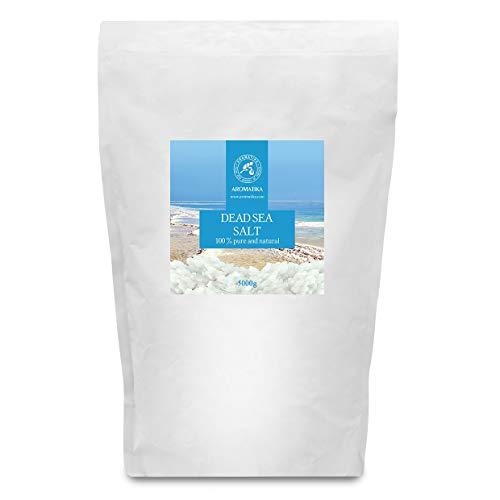 Sal del Mar Muerto 5kg - 100% Puro y Natural - Sales del Mar Muerto 5000g - Cuidado del Cuerpo - Mejores beneficios para un Buen Sueño - Belleza - Baño - Cuidado del Cuerpo - Bienestar - Relax - Spa