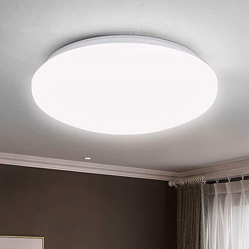 Albrillo Plafon LED de Techo -18W Lámpara de Techo, Luz Blanca Natural 4000K 1450Lumen, Impermeable IP44, Ø27cm, Luz de Techo de Baño Para Dormitorio, Cocina o Sala de Estar