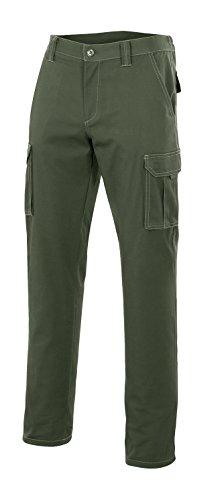 VELILLA 103001 - Pantalón Multibolsillos (Talla 42) Color Verde Caza
