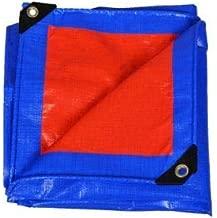 TONKIZA CREATIONS Orange/Blue GSM Waterproof UV Treated 100% Virgin Extra Strong Heavy Duty Plastic Size Tarpaulin (10x10)
