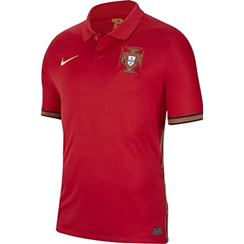 NIKE Fpf M Nk BRT Stad JSY SS Hm Camiseta de Manga Corta, Hombre, Gym Red/Metallic Gold