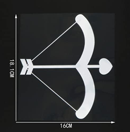 Cbhsjinsuxha 4 Uds Pegatinas de Coche 16 CM * 18.1 CMArco y Flecha Vinilo gráfico calcomanía Pegatina de Coche Ventana de Parachoques Accesorios de Coche de Motocicleta