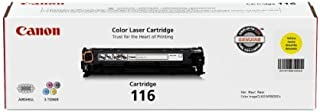 Canon Genuine Toner, Cartridge 116 Yellow (1977B001), 1 Pack, for Canon Color imageCLASS MF8050Cn, MF8080Cw Laser Printers