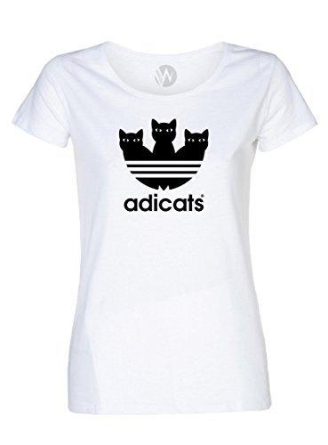 KSS KSS KSS Femmes Top T-Shirt Chat Chaton Message...