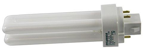 Sylvania CF13DD/E/830 Compact Fluorescent Double Twin 4 Pin, 13W G24q-1 T4, Bulb