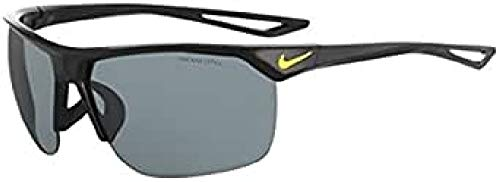 Nike Golf Trainer Sunglasses, Matte Deep Royal Blue/White Frame, Grey with Silver Flash Lens