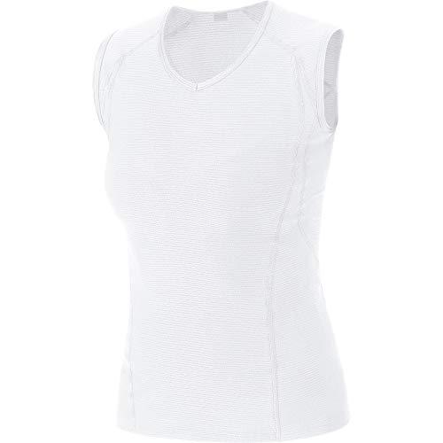 GORE WEAR Damen M Base Layer Shirt Ärmellos, White, 36