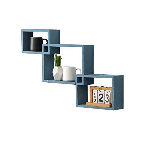Set of 3 Rustic Wall Mounted Tier Square Shaped Floating Shelves $10 at Amazon