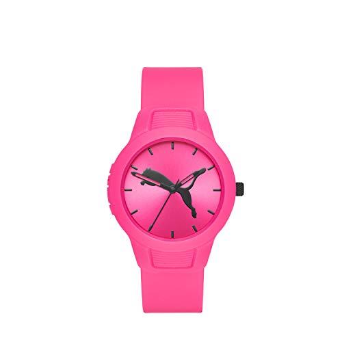 PUMA Women's Reset Quartz Watch with Polyurethane Strap, Pink, 18 (model: P1015)