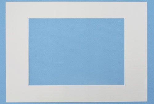 Passepartout Elfenbein 21x29,7 cm (A4), 10 er Pack, Passepartout mit Ausschnitt für A 5 (14,8x21 cm) Bilder