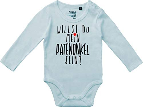 Kleckerliese Baby Body Vintage Spr/üche Jungen M/ädchen Langarm mit Motiv Willst Du Mein Patenonkel Sein?