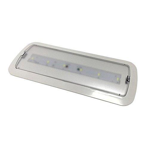 Luz de Emergencia Led de 3W permanente/no permanente con AUTOTEST - Luz Fría 6000/6500k - 200 Lm - Led SMD 5730 de alto rendimiento - Instalación en superficie y empotrable - Resistente al fuego. BOMBILLASLED360