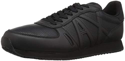 Armani Exchange Herren Lace Up Sneaker, Schwarz (Black 00002), 41 EU