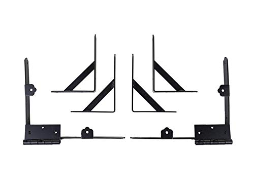Nuvo Iron GCBHK01 Gate Corner Frame Brace Kit, Black