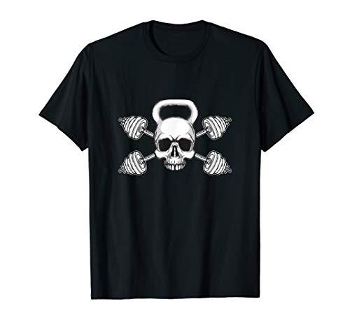 Kettlebell Skull Barbell Weights-Übung T-Shirt