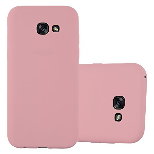 Cadorabo Hülle für Samsung Galaxy A5 2017 (7) - Hülle in Candy ROSA – Handyhülle aus TPU Silikon im Candy Design - Silikonhülle Schutzhülle Ultra Slim Soft Back Cover Case Bumper