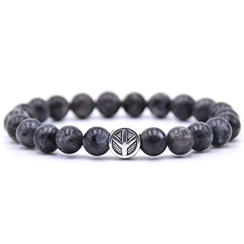 Zozu Peace sign Bracelet Classic Natural Stone 18 styles Bead Bracelets for Men Women Best Friend charm gift 2018 (4)