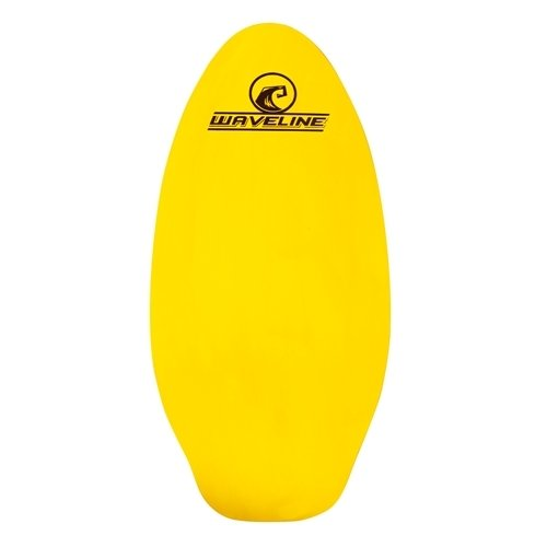 Waveline Neon Wooden Skimboard (Choose Size and Color) (Yellow, 36')