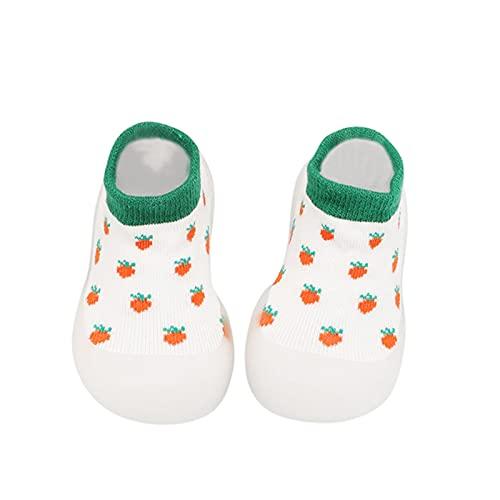 Rutschfest Lauflernschuhe Junge Mädchen Bodensocken Weicher Boden Kleinkind Schuhe Atmungsaktiv Krabbelschuhe Indoor Socken Schuhe Stricken Obst Socken Schuhe