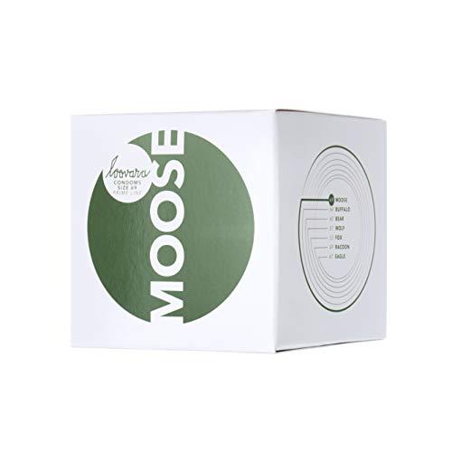 Loovara 12 Kondome in individuellen Größen - Kondomgröße 69 - Size Moose - Kondome dünn aus Fair Rubber - Für mehr Fun & Feeling beim Sex - Vegane Präservative im 12er Pack
