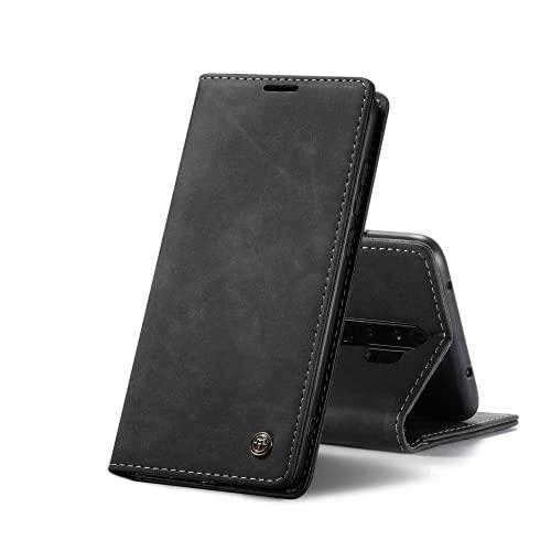 Chocoyi Kompatibel mit Xiaomi Redmi Note 8 Pro Hülle Leder,Magnetverschluss Premium PU Leder Flip Hülle,Standfunktion.-schwarz
