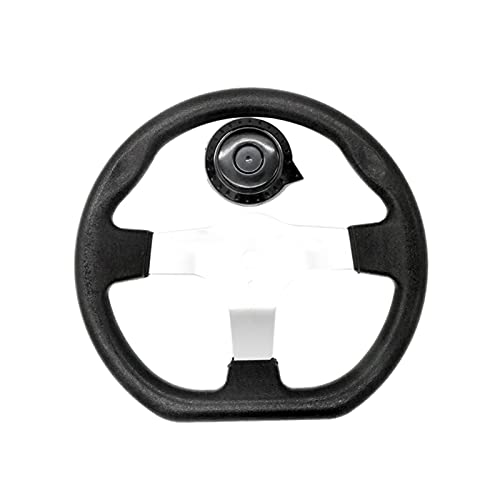 HONGYING Hub del Volante 270 mm Kart Kart Whising Fit para Electric Go Kart Off-Road Scooter Karting Balance Car Piezas de Repuesto del Coche (Color : Zwart)