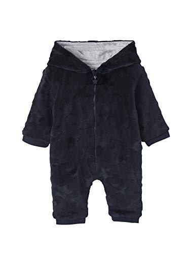 Vertbaudet Surpyjama avec Capuche bébé Toucher Peluche Bleu Nuit 24M - 86CM