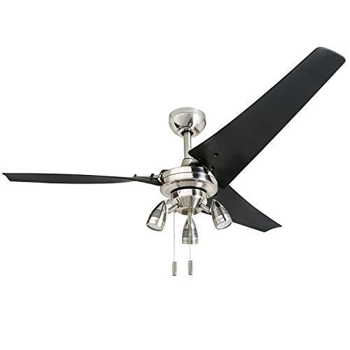 Honeywell 50611-01 Phelix - Ventilador de techo (56, níquel cepillado)
