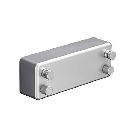 Gelentea Tendedero retráctil de doble línea para el hogar, alambre de acero, invisible, sin perforación, para colgar en la pared, cuerda de acero inoxidable para secar la ropa