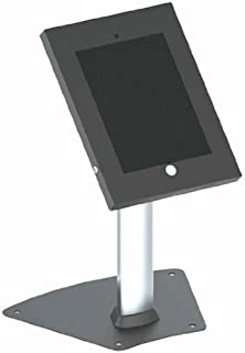 Anti-Theft Tablet Security Stand Kiosk - Aluminum Metal Countertop Desktop Desk Table Mount Tablet Case Holder w/ 14 Inch Pole, Tilt Adjustable, Designed for iPad 2 3 4 Air Tablets - Pyle PSPADLK12