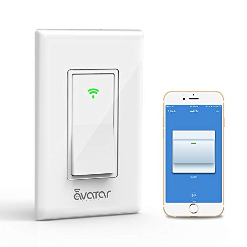 Smart Switch, Smart Light Switch, WiFi Light Switch Compatible with Alexa/Google Assistant, Smart Life APP, No Hub Required, in-Wall 2.4Ghz Time Schedule and Remote Control, Neutral Required(2 Pack)