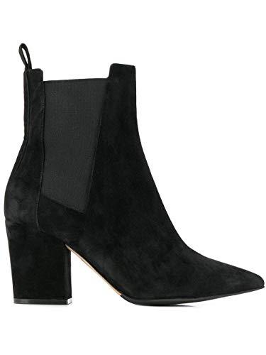 Sergio Rossi Luxury Fashion Damen A85760MCAZ011000 Schwarz Wildleder Stiefeletten   Jahreszeit Outlet