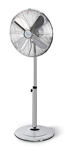 Lifetime Air - Ventilador de pie (metal, Ø 40cm, 50W, 3 niveles, función de swing, oscilación de 75°, inclinación ajustable, altura ajustable de 90 a 125cm, protección contra sobrecalentamiento)