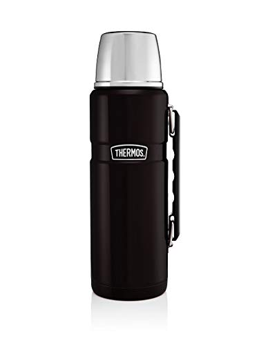 THERMOS Isolierflasche King - Frasco, Color Negro Mate, Talla 1.2 Liter