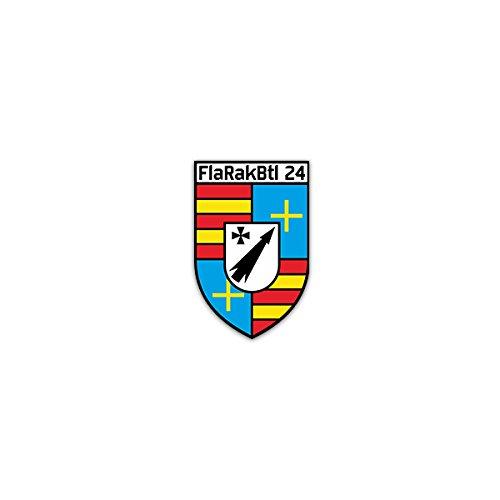 Copytec Aufkleber/Sticker -FlaRakBtl 24 Flugabwehr Raketen Bataillon Feldwebel-Lilienthal-Kaserne Delmenhorst Bundeswehr Luftwaffe Heer Militär Wappen Abzeichen Emblem 5x7cm #A2323