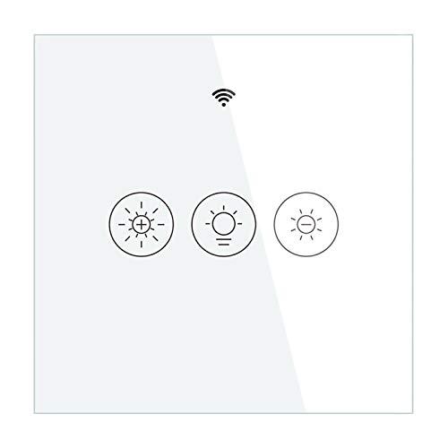 Interruptor de luz inteligente WiFi + RF433, control por aplicación, regulador inteligente con temporizador, 2/3 vías, mando a distancia (opcional), compatible con Alexa Google Home.