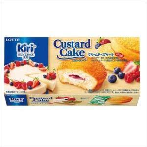 LOTTE(ロッテ)「カスタードケーキ『クリームチーズケーキ~ベリー仕立て~』」6個入り