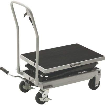 Strongway 2-Speed Hydraulic Rapid XT Lift Table Cart - 500-Lb. Capacity, 50 3/4in. Lift Height