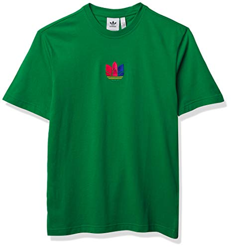adidas Originals Camiseta de trébol 3D para hombre - verde - X-Small