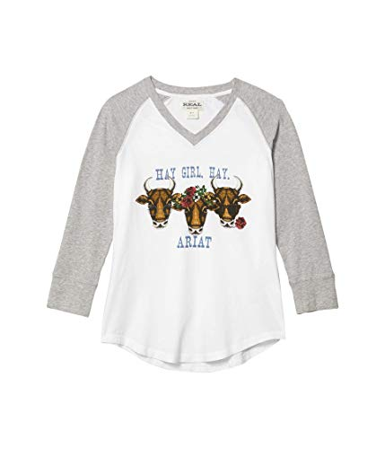 ARIAT R.E.A.L. Hay Girl T-Shirt Grey Heather XL