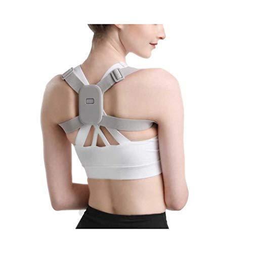AWEDE Intelligente Haltungskorrektor Smart Vibrations-LED-Erinnerung Induktive Rückenstütze Schmerzlinderung Schulter-Trainingsgürtel Unisex