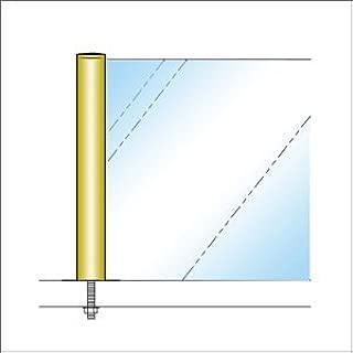 e-kanamono ガラススクリーンポール(ブースバー) Kタイプ 一方 32mm x L250mm 平頭 ボルト固定 ゴールド