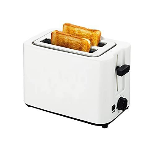 2 Slice Toaster Stainless Steel Toaster Best Rated Prime Toasters with 7 Shade Settings Reheat bagel Cancel Function and Removable Crumb Tray Wide Slots toaster for Bread Waffles (White/rated voltage 110V)