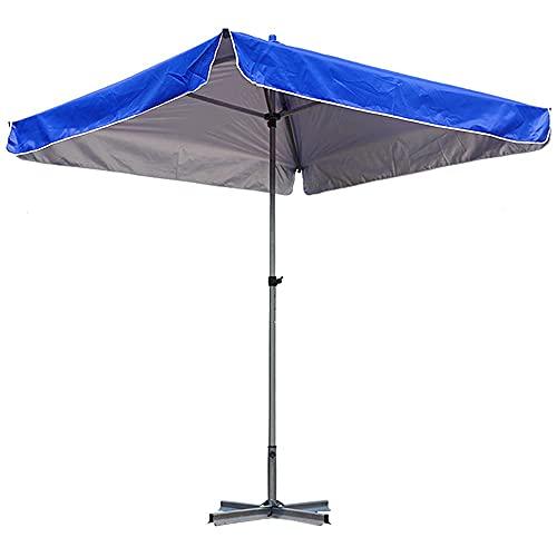 Sombrilla de cabina comercial a gran escala con base, sombrilla de playa portátil para exteriores, sombrilla eficaz y sombrilla a prueba de lluvia, sombrilla de jardín plegable, ajuste de altura,