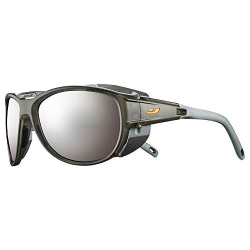 Julbo Explorer 2.0 - Gafas de sol para hombre, color gris translúcido mate y naranja, FR: L (talla fabricante: L)