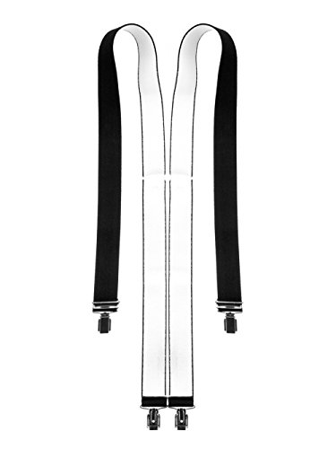 Hosentr�ger 4 Clips (X - Form), Schwarz , One Size